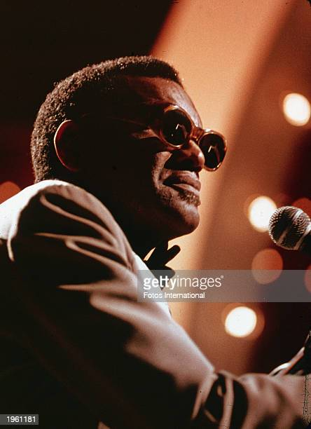 American soul singer and pianist Ray Charles performs on the television series 'Midnight Special' circa 1979