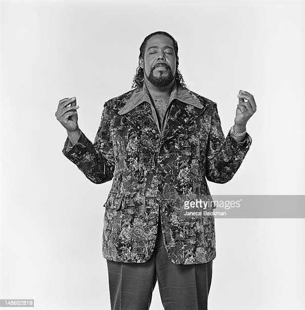 American soul singer Barry White New York City 1989