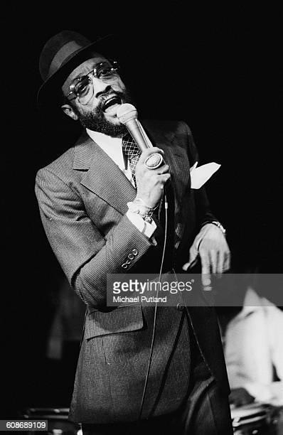 American soul singer Billy Paul performing on stage December 1977