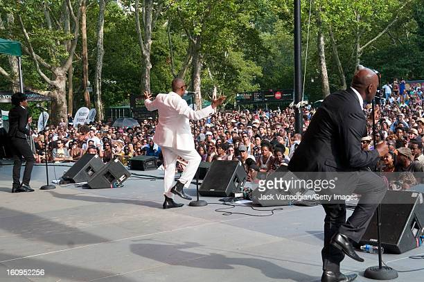 American soul singer Raphael Saadiq performs at 'A Celebration of Giant Step's 20th Anniversary' concert at Central Park SummerStage New York New...