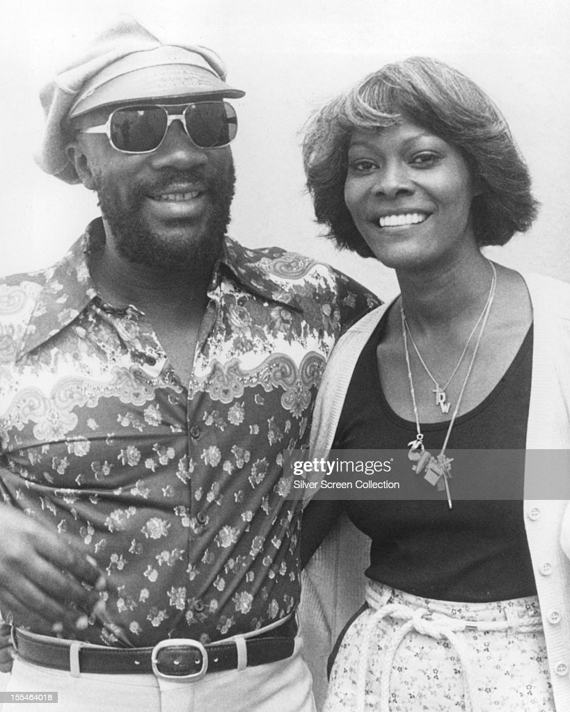 American soul singers Isaac Hayes and Dionne Warwick, circa