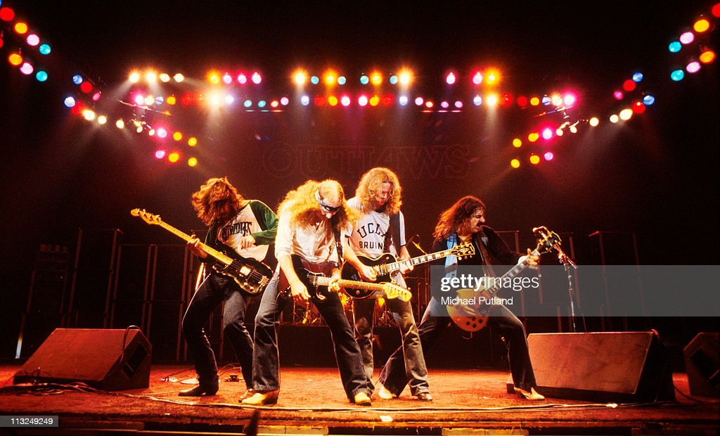 American Southern rock band The Outlaws performing in Los Angeles, California, February 1980.