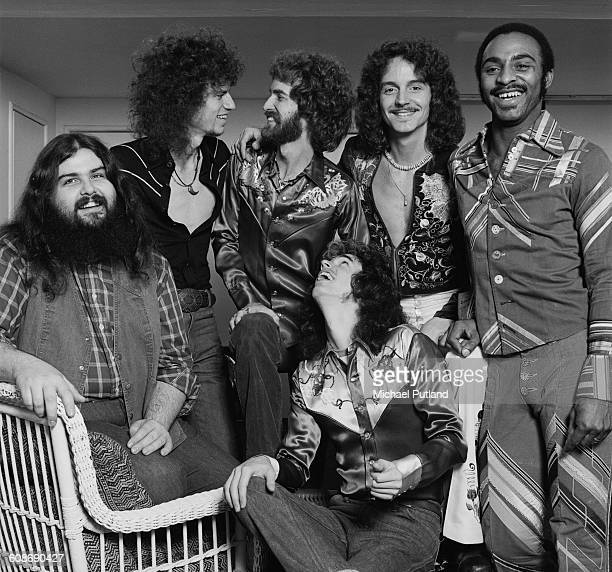 American southern rock group Wet Willie December 1977 Left to right singer and keyboard player Mike Duke singer and saxophonist Jimmy Hall guitarist...