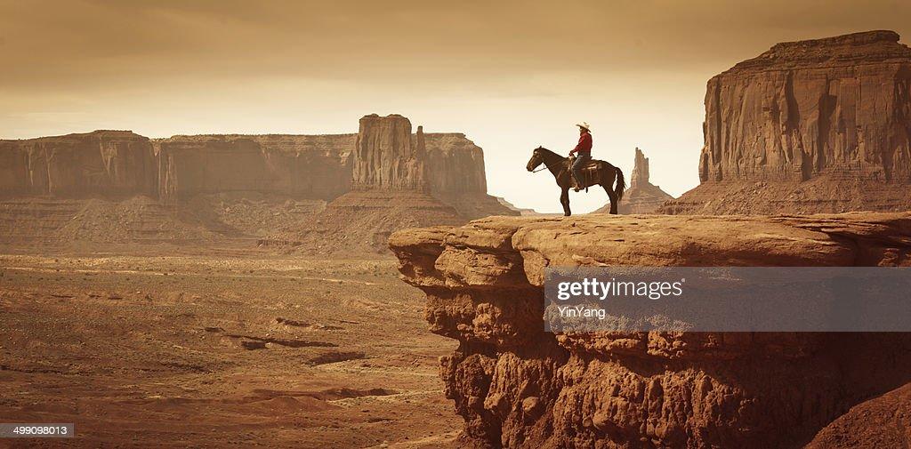 American Southwest Cowboy on Horse : Stock Photo