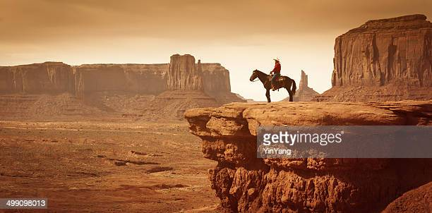 american southwest cowboy on horse - wild west stock pictures, royalty-free photos & images