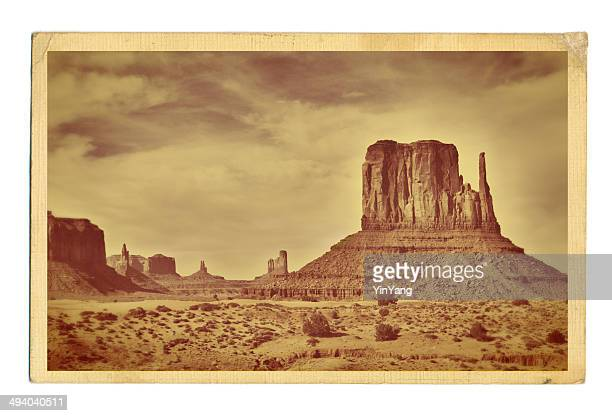 american southwest landscape retro postcard - sepia stock pictures, royalty-free photos & images
