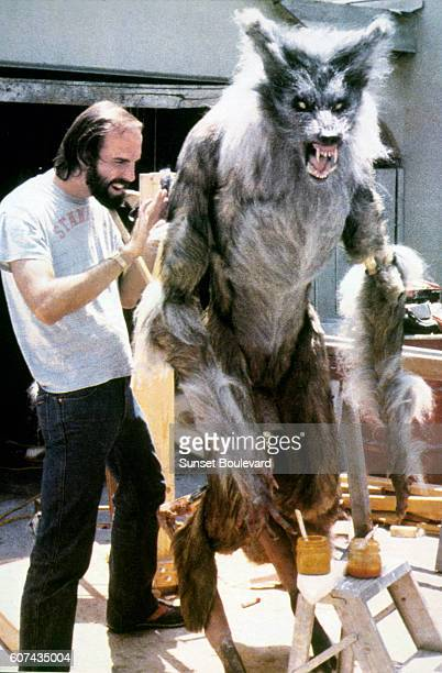 American special makeup effects creator and associate producer Rob Bottin on the set of The Howling based on the novel by Gary Brandner and directed...