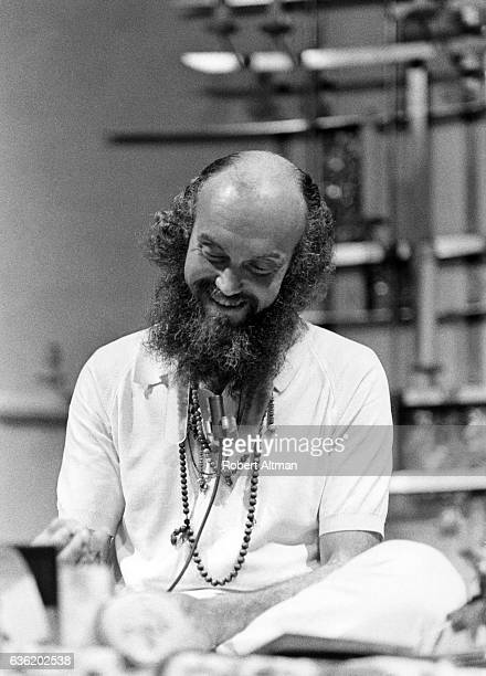 American spiritual teacher Baba Ram Dass meditates at the First Unitarian Church on January 2 1970 in San Francisco California