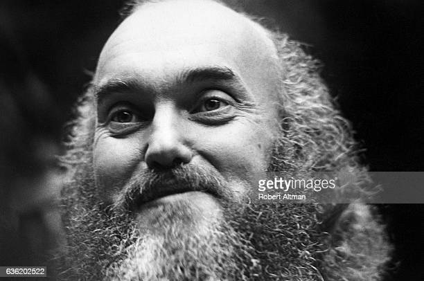 American spiritual teacher Baba Ram Dass poses for a portrait at the First Unitarian Church on January 2 1970 in San Francisco California