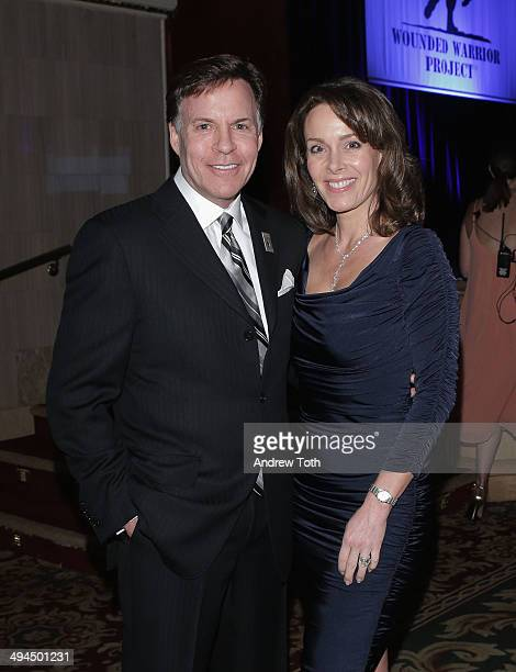 American sportscaster and honoree Bob Costas and Jill Sutton attend the 9th annual Wounded Warrior Project Courage Awards Benefit Dinner at The...