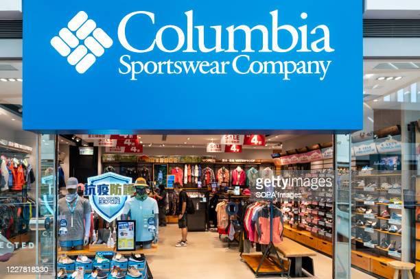 American sportswear brand Columbia store seen in Hong Kong.