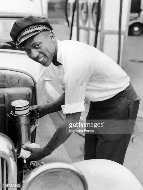 American Sprinter Jesse Owens Pumping Gas At A Gas Station In Cleveland On August 1 1935 Already A Medalist But Still A Student The Young Jesse Owens...