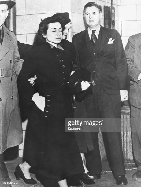 American spy Judith Coplon leaves the Federal Court House in New York City after being sentenced to 15 years imprisonment for disclosing US secrets...