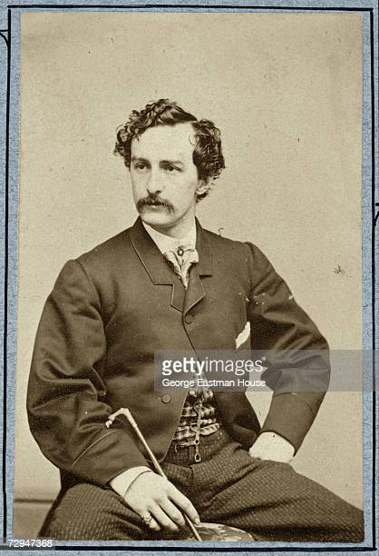 American stage actor and assassin John Wilkes Booth poses for a portrait a few years before his murder of president Abraham Lincoln early 1860s