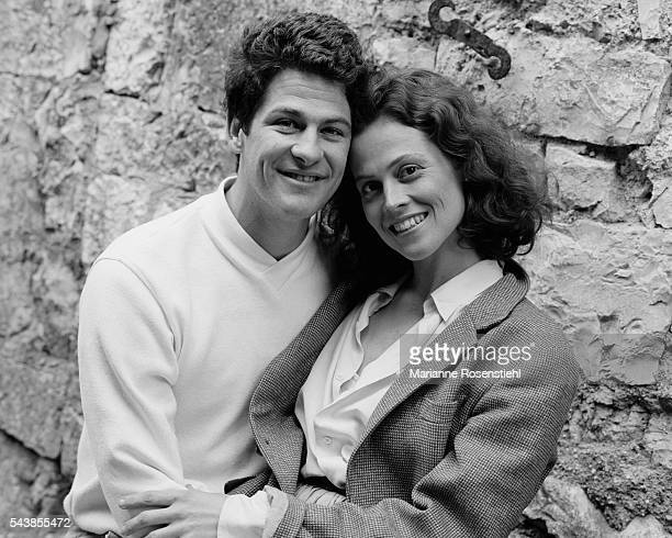 American stage director Jim Simpson and his wife actress Sigourney Weaver