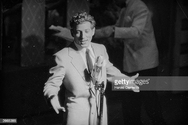 American stage film and television entertainer Danny Kaye at the London Palladium