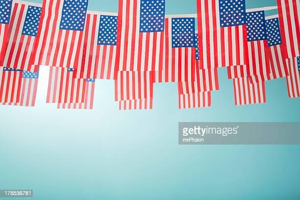 American Stars and Stripes celebratory bunting