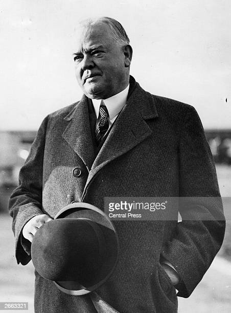 American statesman and the 31st President of the United States Herbert Hoover . Original Publication: People Disc - HE0196