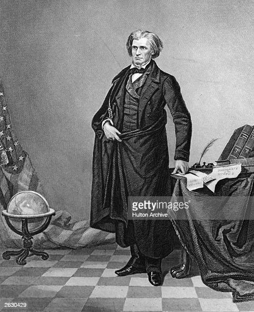American statesman John Caldwell Calhoun , a vice-president under John Quincy Adams and Andrew Jackson and a defender of states rights and slavery.