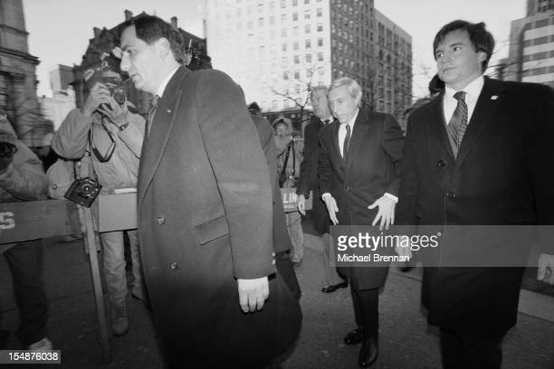American stock trader Ivan Boesky arrives at the Manhattan Federal Court New York City charged with insider trading December 1987 He received a...