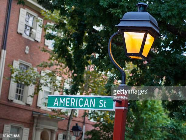 American Street in Philadelphia's historic district.