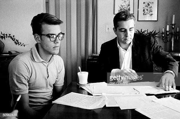 American student Randy Gardner talks with Dr William Dement about a sleep deprivation experiment San Diego California 1964 Gardner set the world...