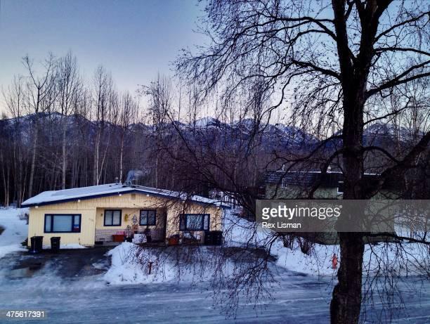 American suburban house Anchorage Alaska