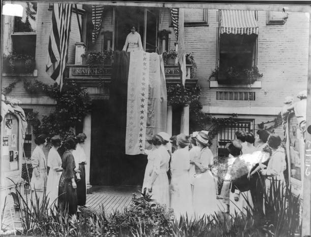 Alice Paul Celebrates The Ratification of the 19th Amendment