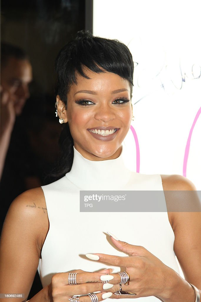 American super star Rihanna attends commercial activity on Sunday September 15,2013 in Hong Kong,China.