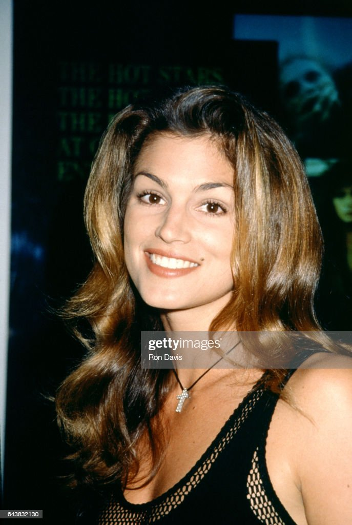 American supermodel Cindy Crawford attends the 12th Annual Video Software Dealers Association (VSDA) Convention and Expo on July 11, 1993 at the Las Vegas Convention Center in Las Vegas, Nevada.