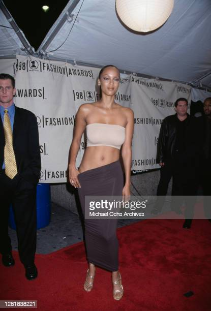 American supermodel Tyra Banks during the 1998 VH1 Fashion Awards at Madison Square Garden in New York City New York United States 23rd October 1998