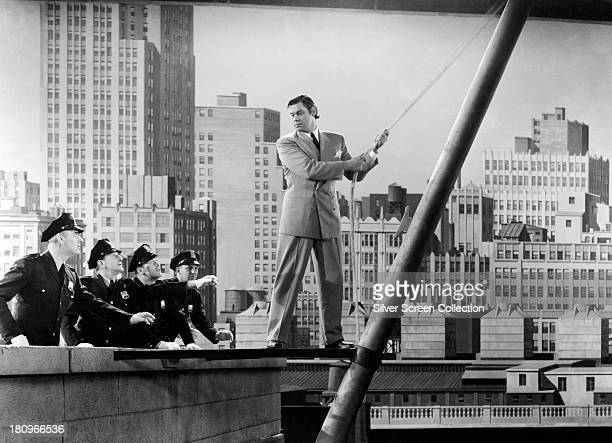 American swimmer and actor Johnny Weissmuller as Tarzan in 'Tarzan's New York Adventure' directed by Richard Thorpe 1942