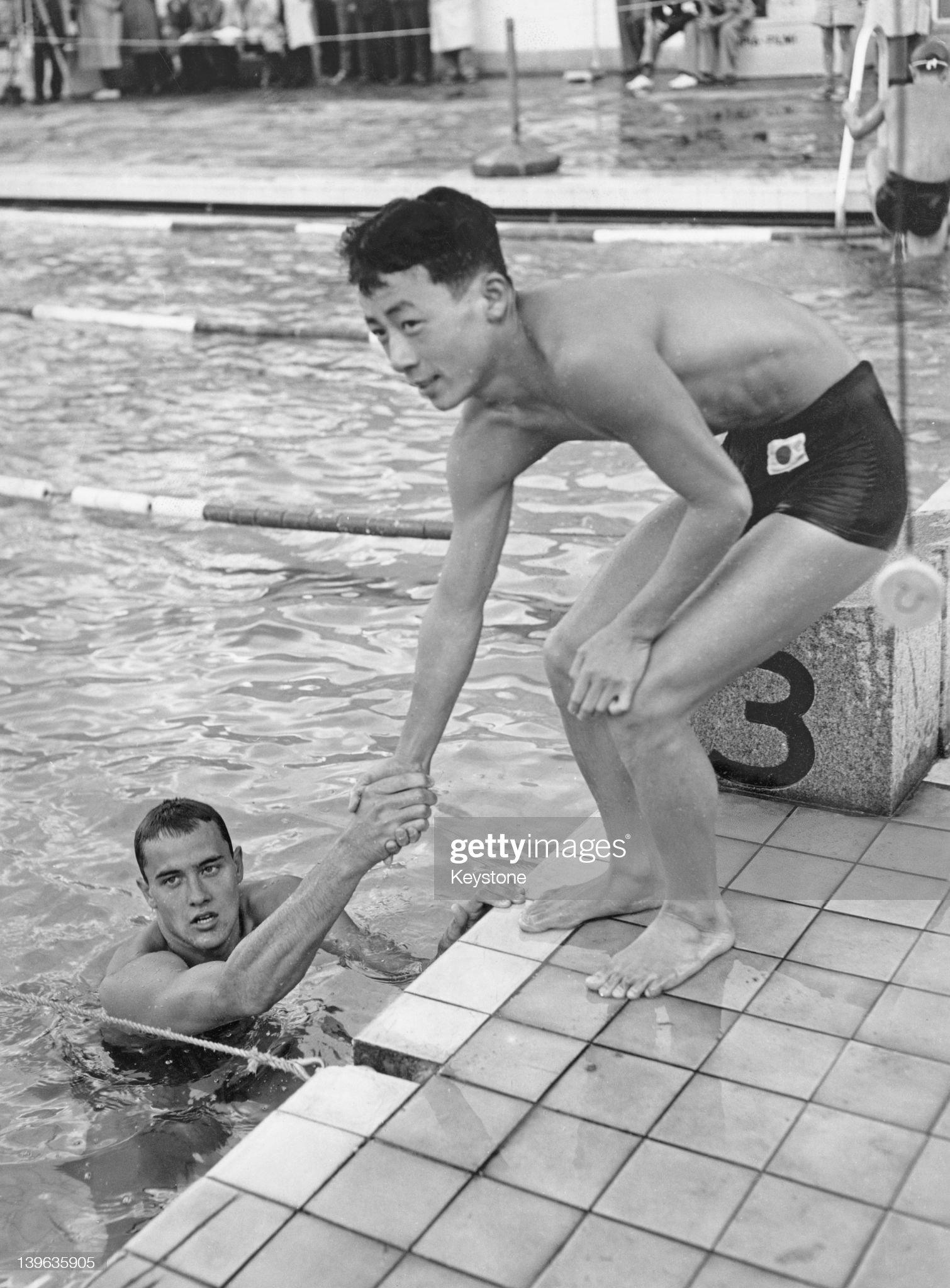 Olympic Swimmers : Fotografía de noticias