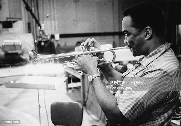 American swing and bop trumpeter Clark Terry circa 1960