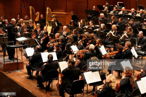 American Symphony Orchestra performing in a program 'Inventing America' at Avery Fisher Hall on Sunday afternoon September 25 2005This imageLeon...