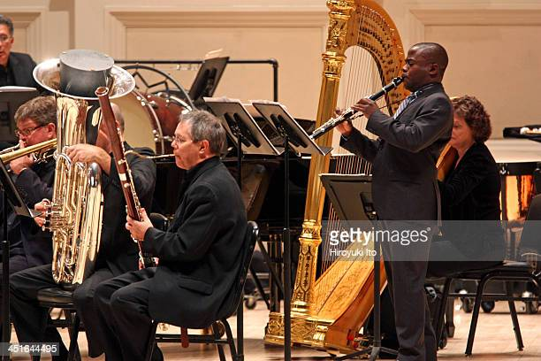 American Symphony Orchestra performing in an all-Elliott Carter program at Carnegie Hall on Sunday afternoon, November 17, 2013.This image:Anthony...