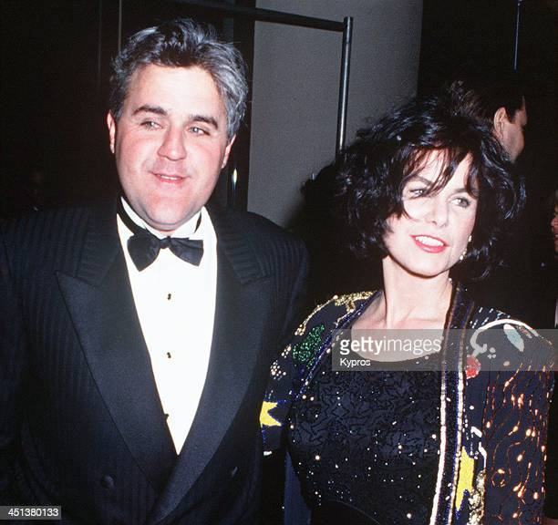 American talk show host and comedian Jay Leno with his wife Mavis, circa 1993.