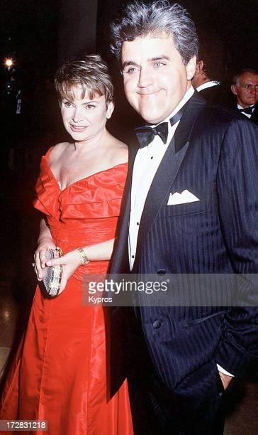 American talk show host Jay Leno with his wife Mavis Leno 1992