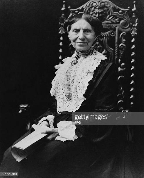 American teacher and nurse Clara Barton founder of the American Red Cross circa 1900