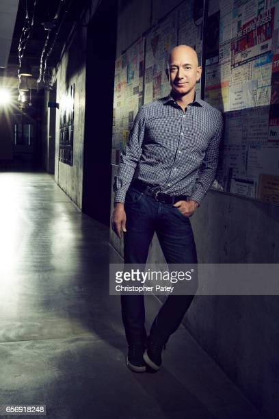 American technology and retail entrepreneur founder chairman and chief executive officer of Amazoncom Jeff Bezos is photographed for Billboard...