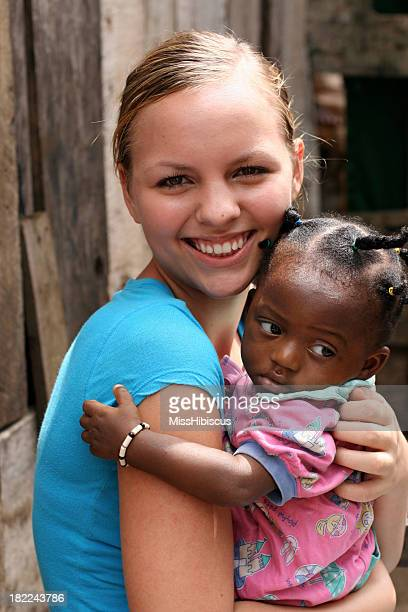 American Teen With African Baby