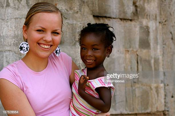 American Teen With African Girl