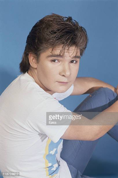 American television and film actor Corey Feldman poses for a magazine shoot United States December 1986