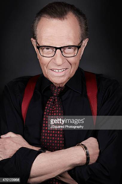 American television and radio host Larry King is photographed for Ora TV on July 16 2014 in Los Angeles California