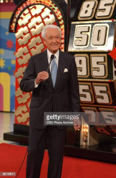 American television game show host Bob Barker celebrates the 6000th episode of television's longestrunning game show 'The Price Is Right' The program...