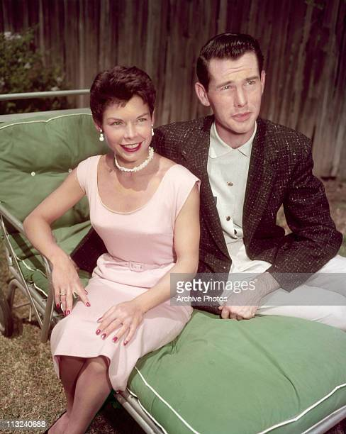 American television host and comedian Johnny Carson with his first wife Jody Wolcott at their home in Encino California circa 1955