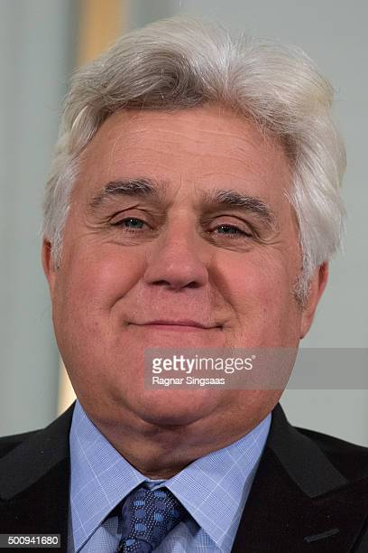 American Television Host Jay Leno attends the Nobel Peace Prize Press Conference at The Norwegian Nobel Institute ahead of the Nobel Peace Prize...