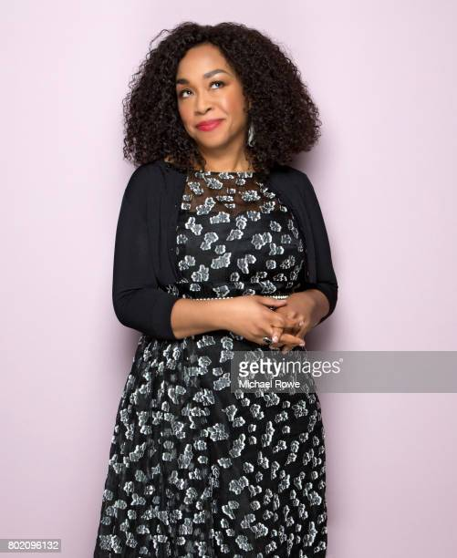 American television producer screenwriter and author Shonda Rhimes is photographed for Essence Magazine on January 25 2017 in Los Angeles California