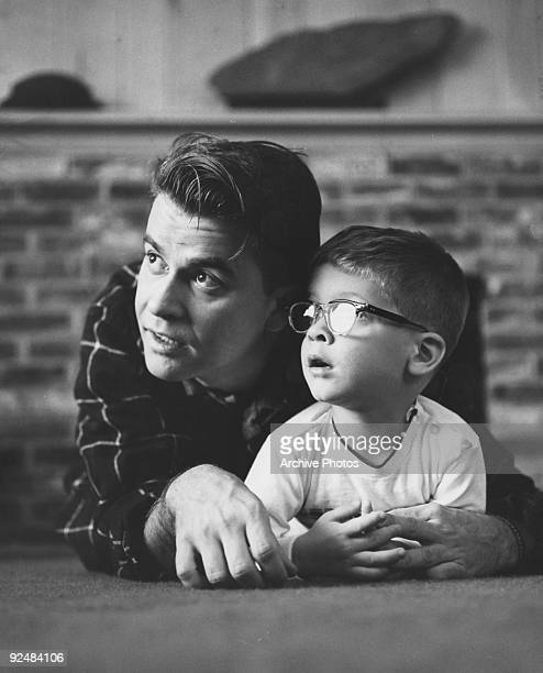 American television show host Dick Clark with his son Richard A Clark circa 1960