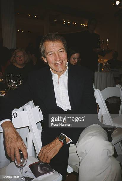 American television talk show host and journalist Charlie Rose at 'Art Walk' New York City 2001